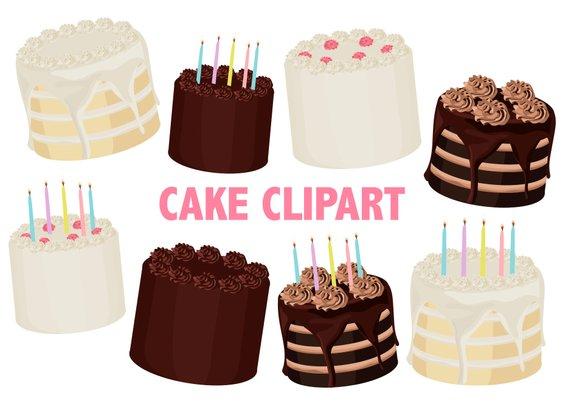 Cake Clipart Printable Layered Party Cake Printable Art