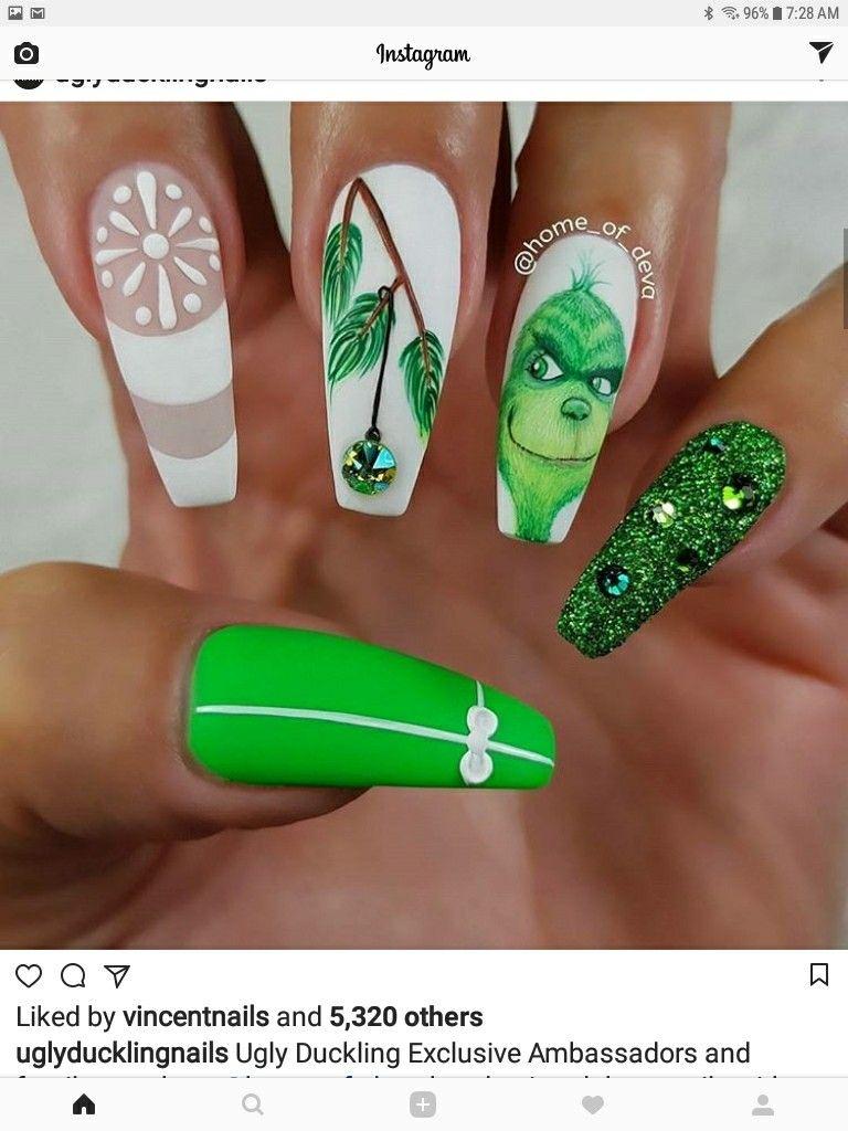 Pin de Kath en Nails | Pinterest | Diseños para uñas y Navidad