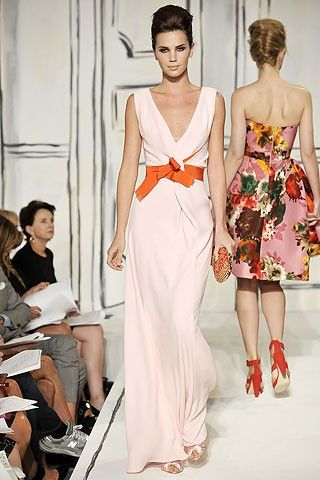 Wedding Ideas: orange-white-dress