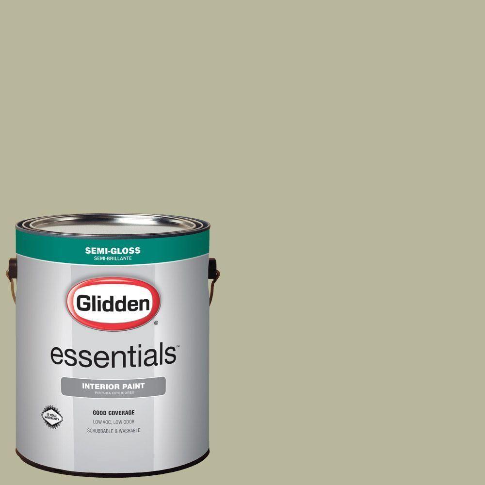 Glidden Essentials 1 gal. #HDGG25U Sandarac Sage Semi-Gloss Interior Paint