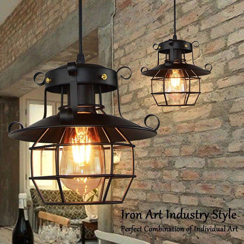 Malencosmo Pharos Vintage Pendant Light Metal Industrial Lamp