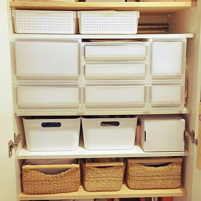 IKEA/無印/無印良品/収納棚/収納見直し/収納ボックス…などのインテリア実例 -2016-03-22 10:08:26