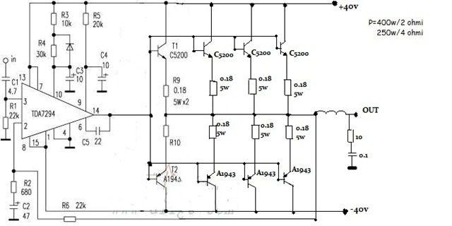 """Képtalálat a következőre: """"tda7294 amplifier circuit"""