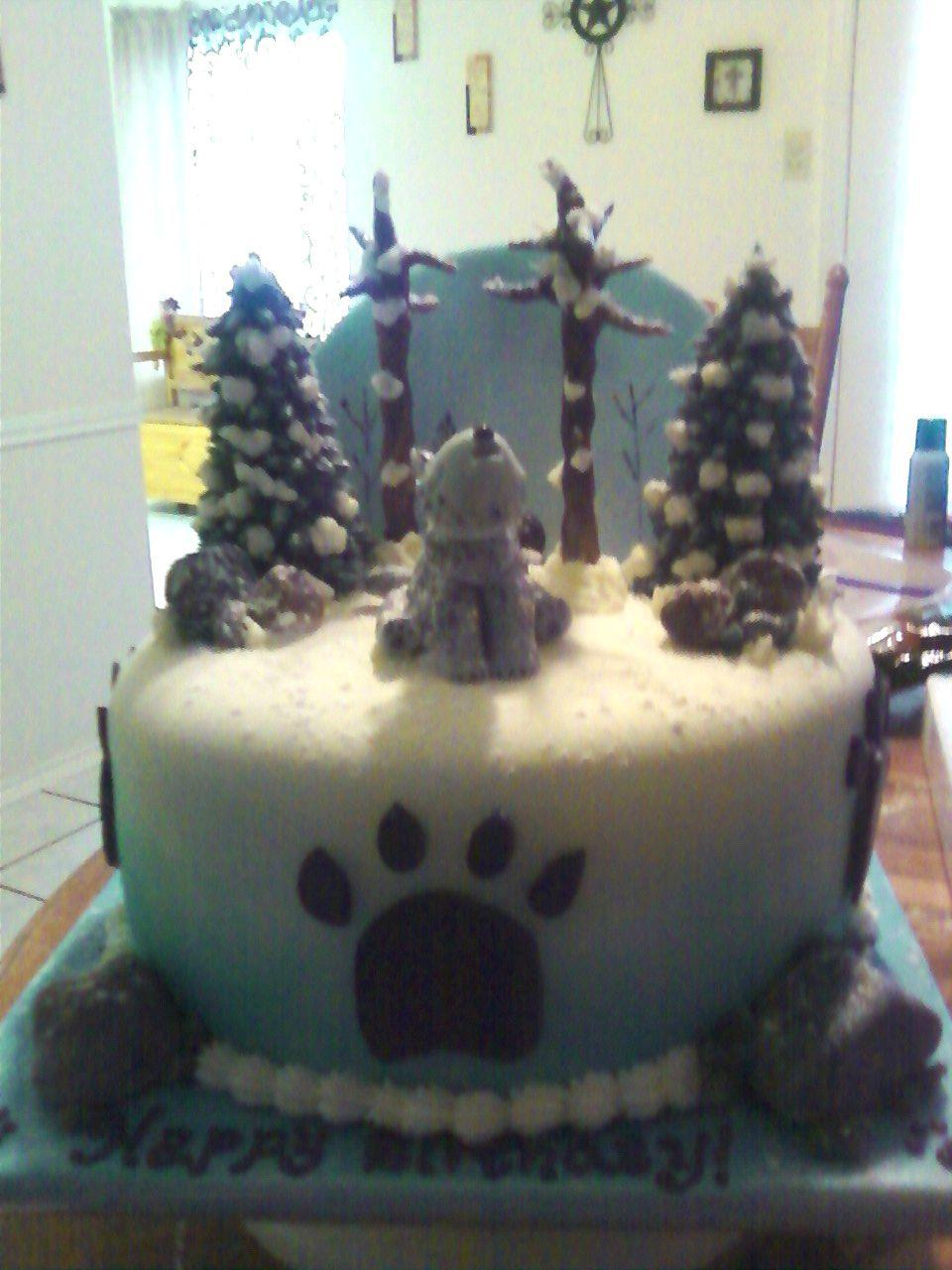 Wolf Cake cakepins.com