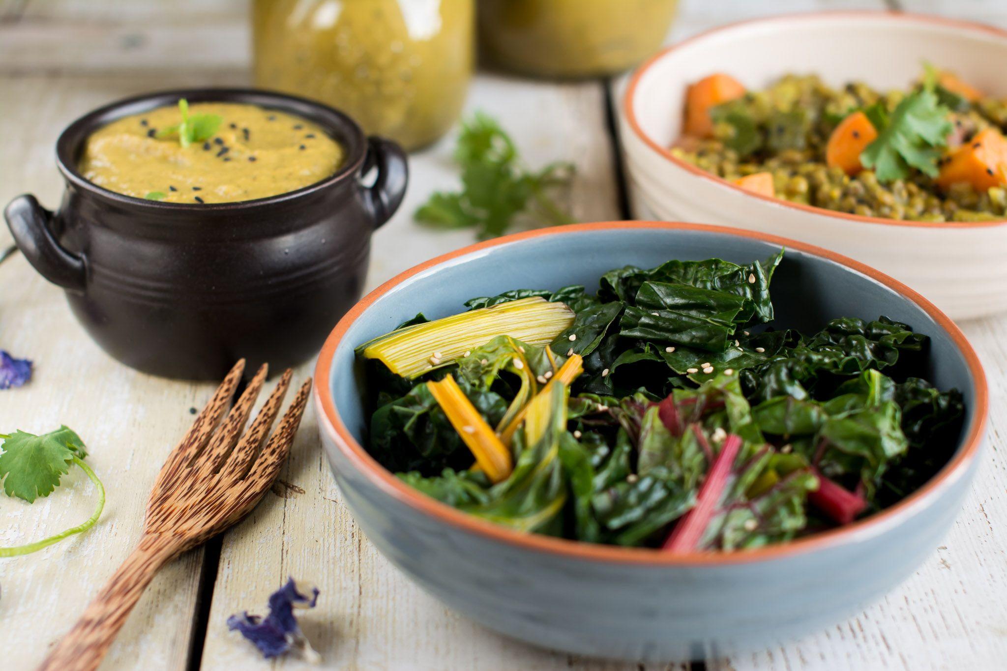 Vegan Salad Dressing with Oven Roasted Veggies Recipe