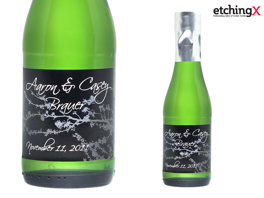 Custom labeled mini champagne bottles for party and wedding favors ...