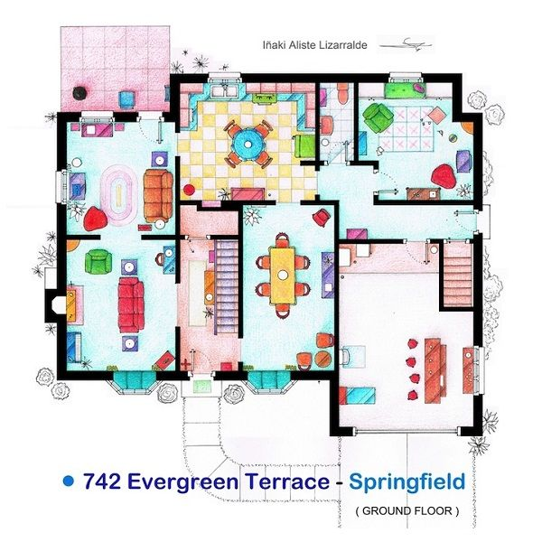 The simpsons the floorplans of famous tv shows and films designtaxi com