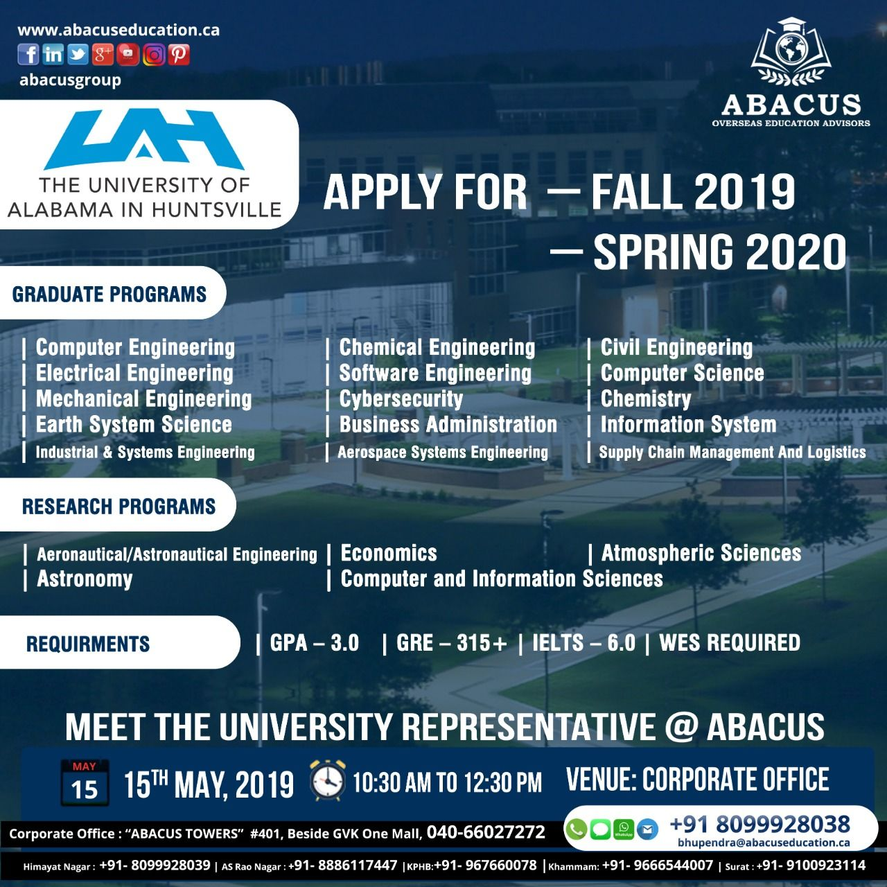 University Of Alabama Graduation 2020.Apply For Fall 2019 Spring 2020 Meet The University