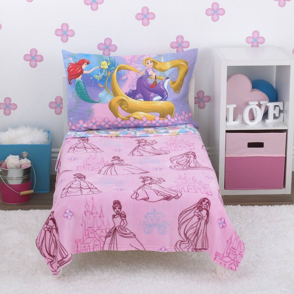Disney Princess Toddler Bedding Set 4pc Princess Toddler Bed