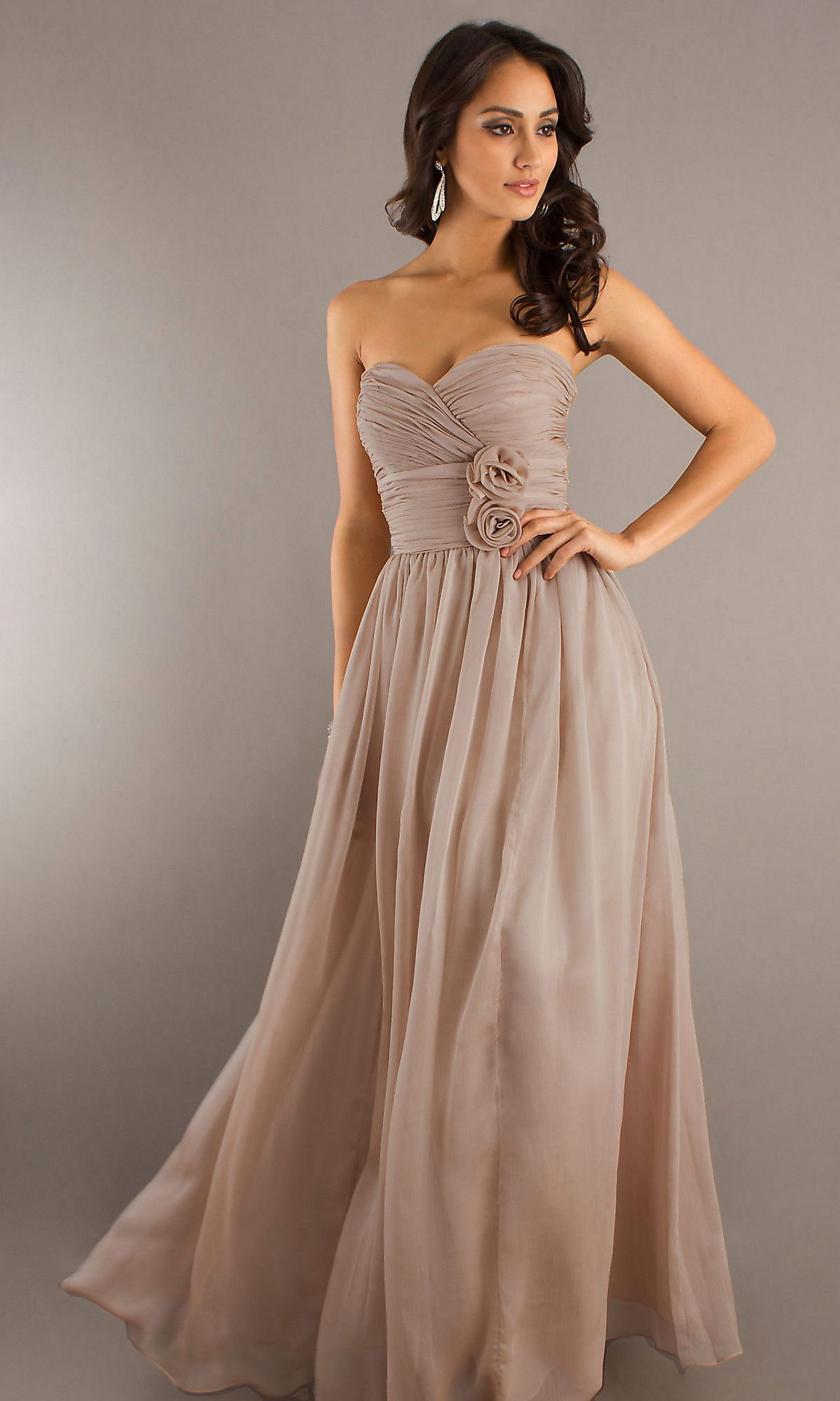 Classic long strapless sweetheart gown po ahoy there