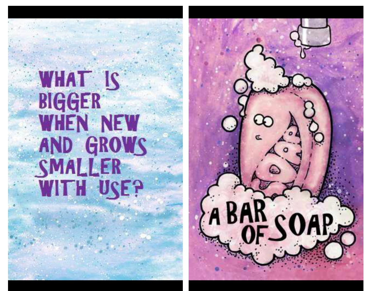 Interesting riddles about soap
