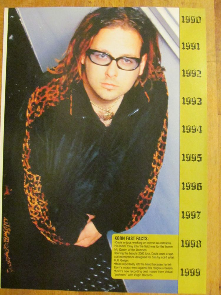Korn, Jonathan Davis, Full Page Pinup