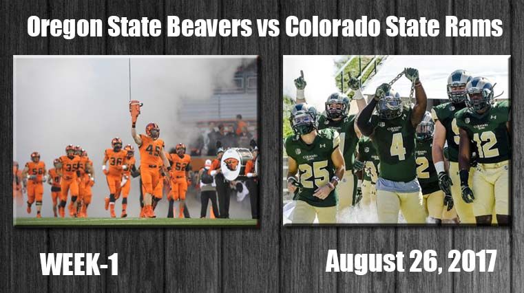 Oregon State Beavers Vs Colorado State Rams Live Stream Oregon