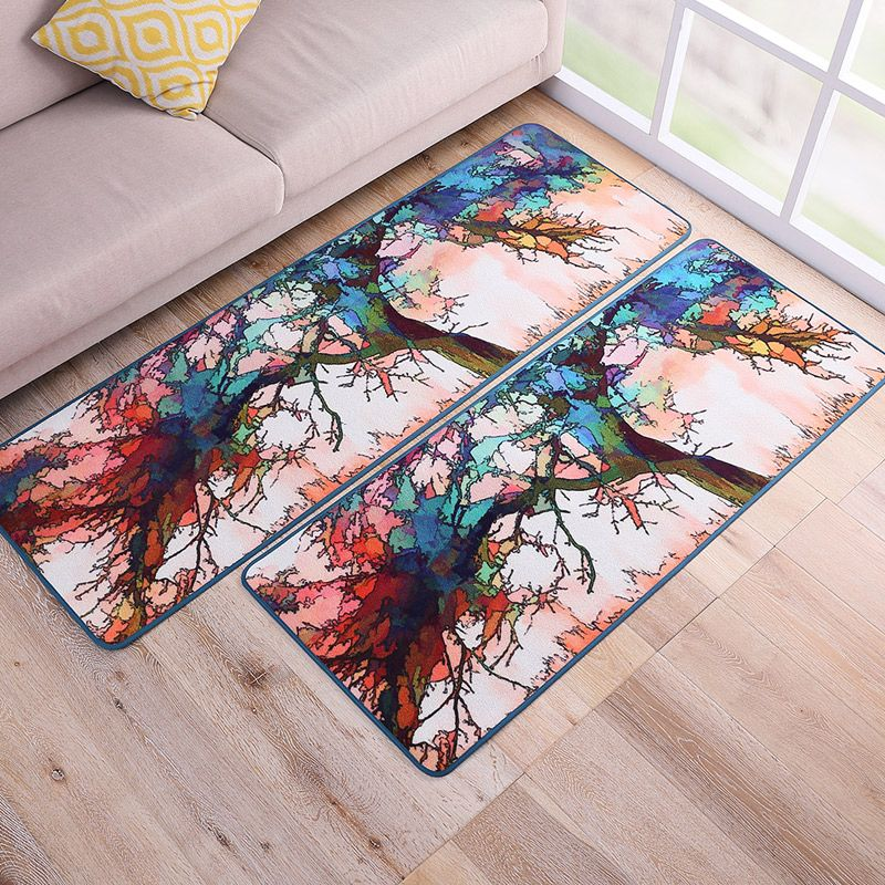 New Oil Painting Style Colorful Tree Design Carpet Living Room Bedroom  Floormats Parlor Kitchen Area Rugs