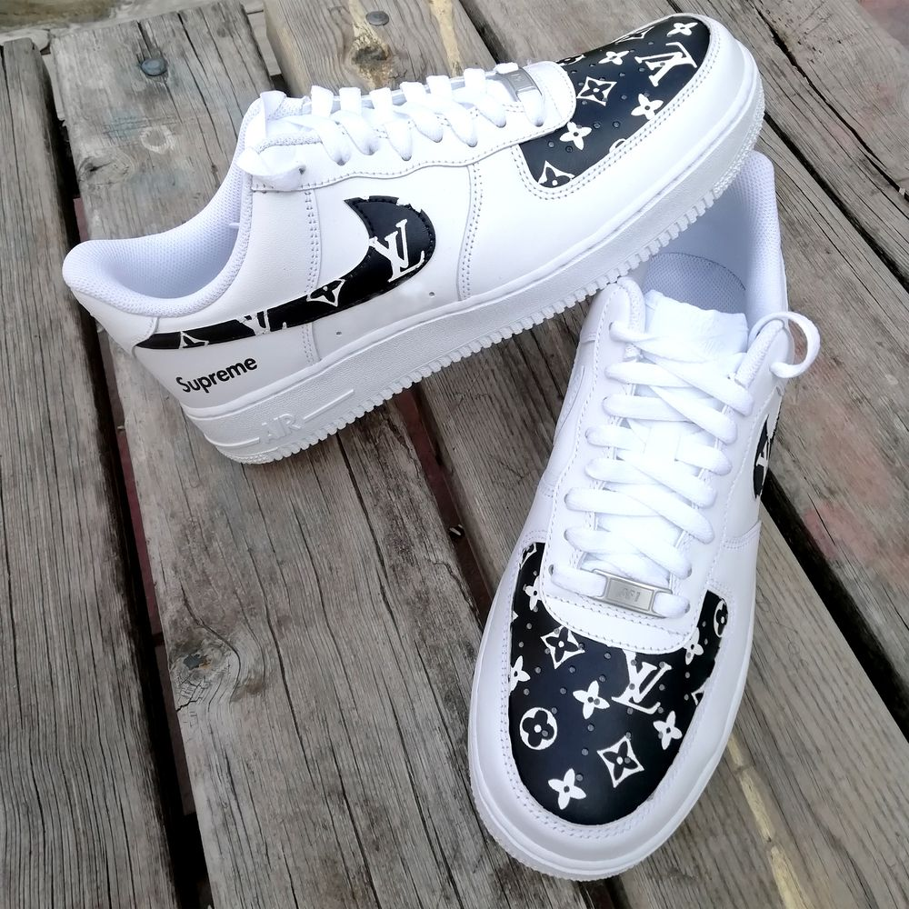 LV supreme Air force one in 2020 Nike air shoes