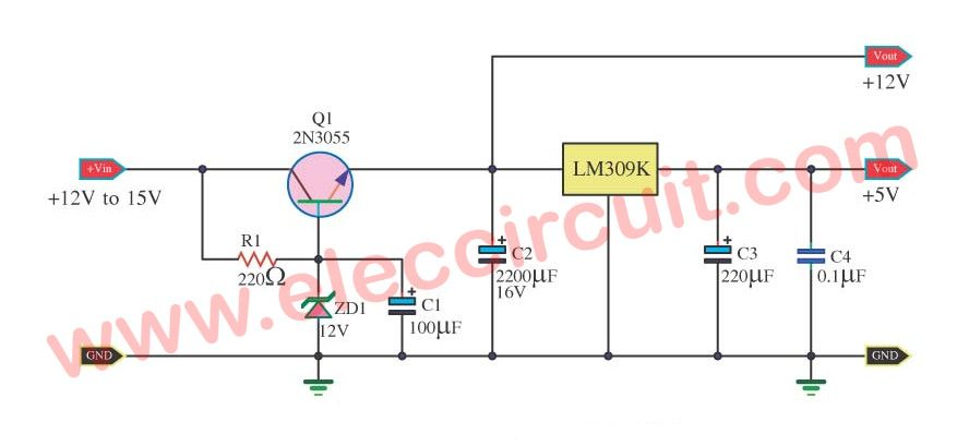 Many Ideas Of 12v And 5v Dual Power Supply Circuit Diagram At 3a Max In 2020 Power Supply Circuit Power Supply Circuit
