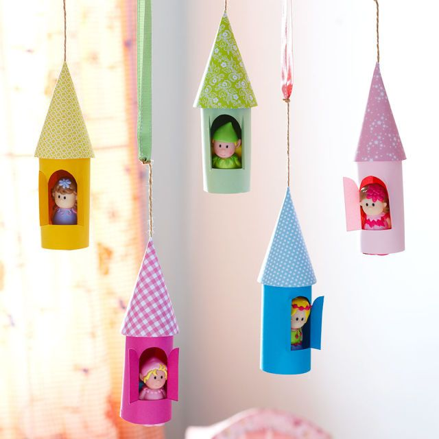 How to make paper castles to decorate the kids' room