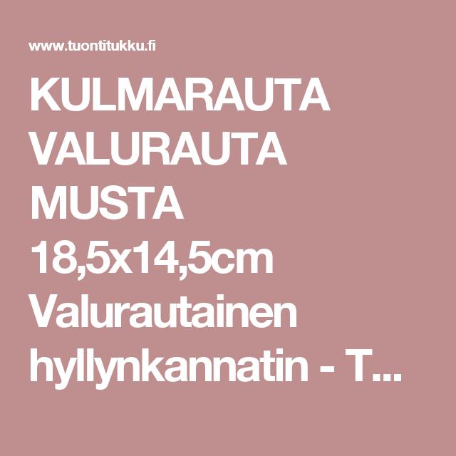 KULMARAUTA VALURAUTA MUSTA 18,5x14,5cm Valurautainen hyllynkannatin - Tuontitukku.fi verkkokaupasta
