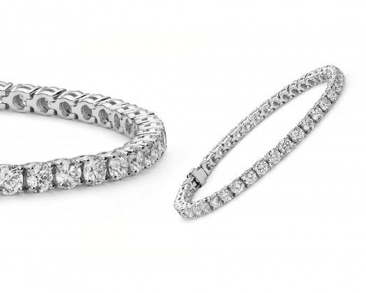 Chicmarket 18k White Gold Plated Tennis Bracelet Made With Swarovski Crystals