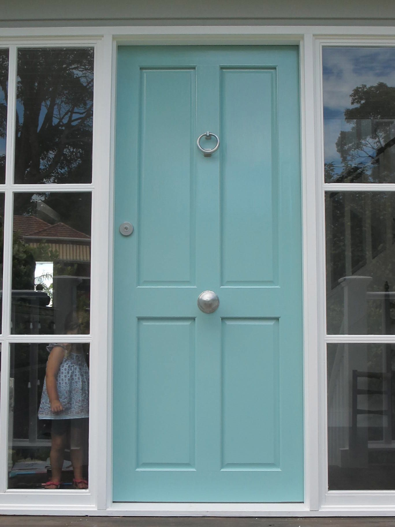 Gray House Blue Door Google Search Front Doors Pinterest Exterior Paint Colors Front