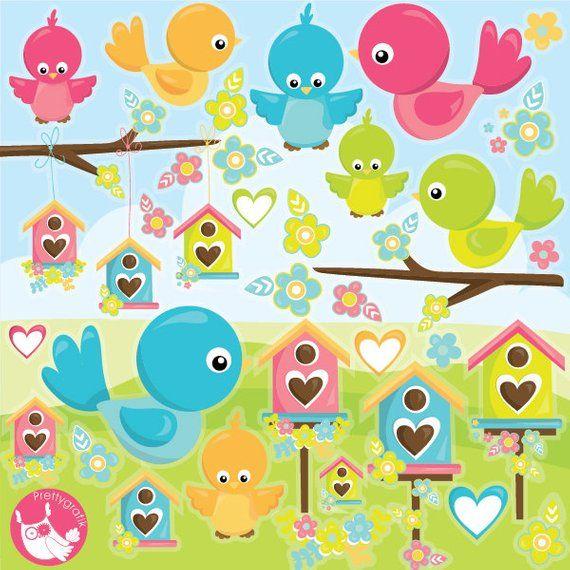 KAUFEN SIE 20 GET 10 OFF Vögel Clipart kommerzielle Nutzung, Vogel Clipart Vektorgrafiken, Vogelhaus digitale ClipArt, Baby Vögel digitale Bilder – CL997   – Baba