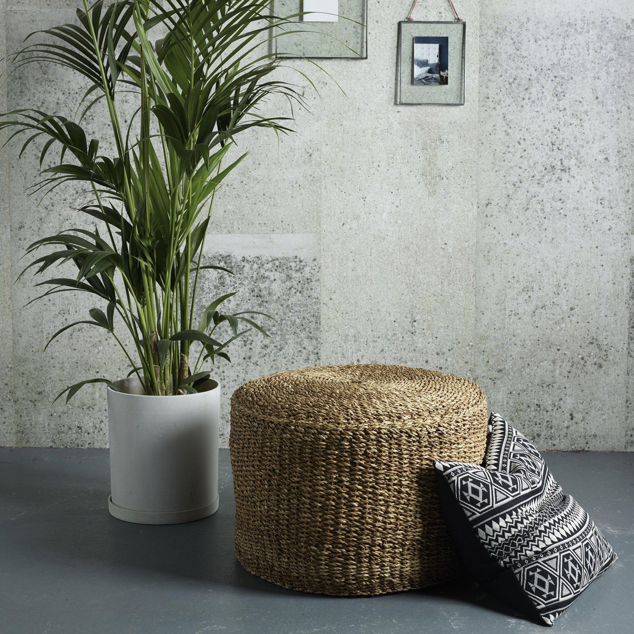 Seagrass Pouf | Bloomingville | Design Vintage | Seagrass