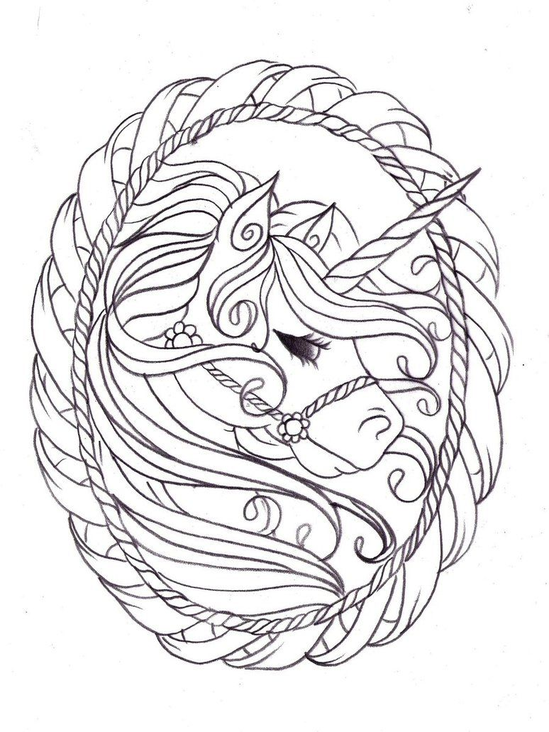 Majestic Unicorn Coloring Pages Coloring Pages Pattern
