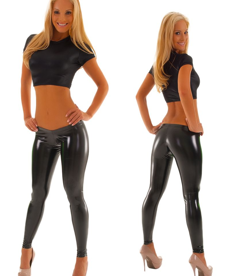 Womens Super Low Rise Leggings In Optic White