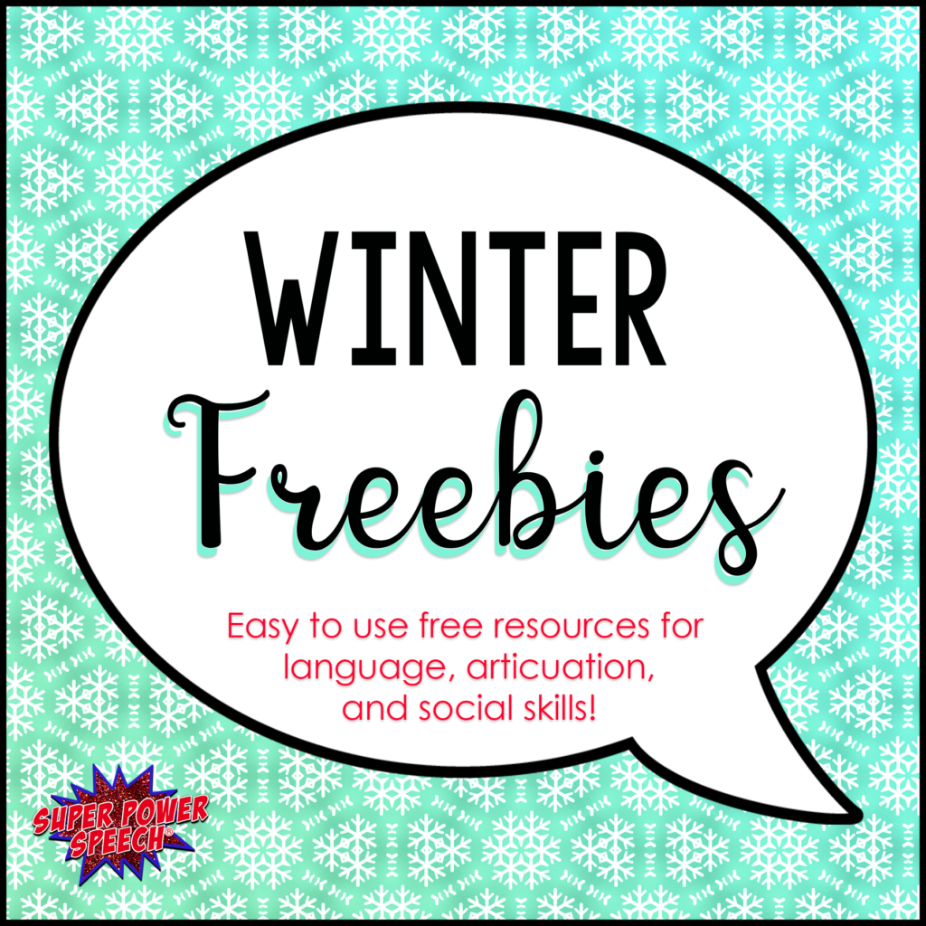 Winter Freebies Free Resources For Speech And Language