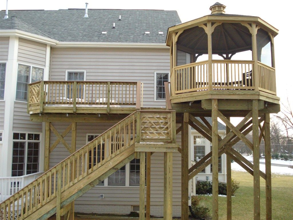 See Supports For 2nd Story Gazebo Deck American