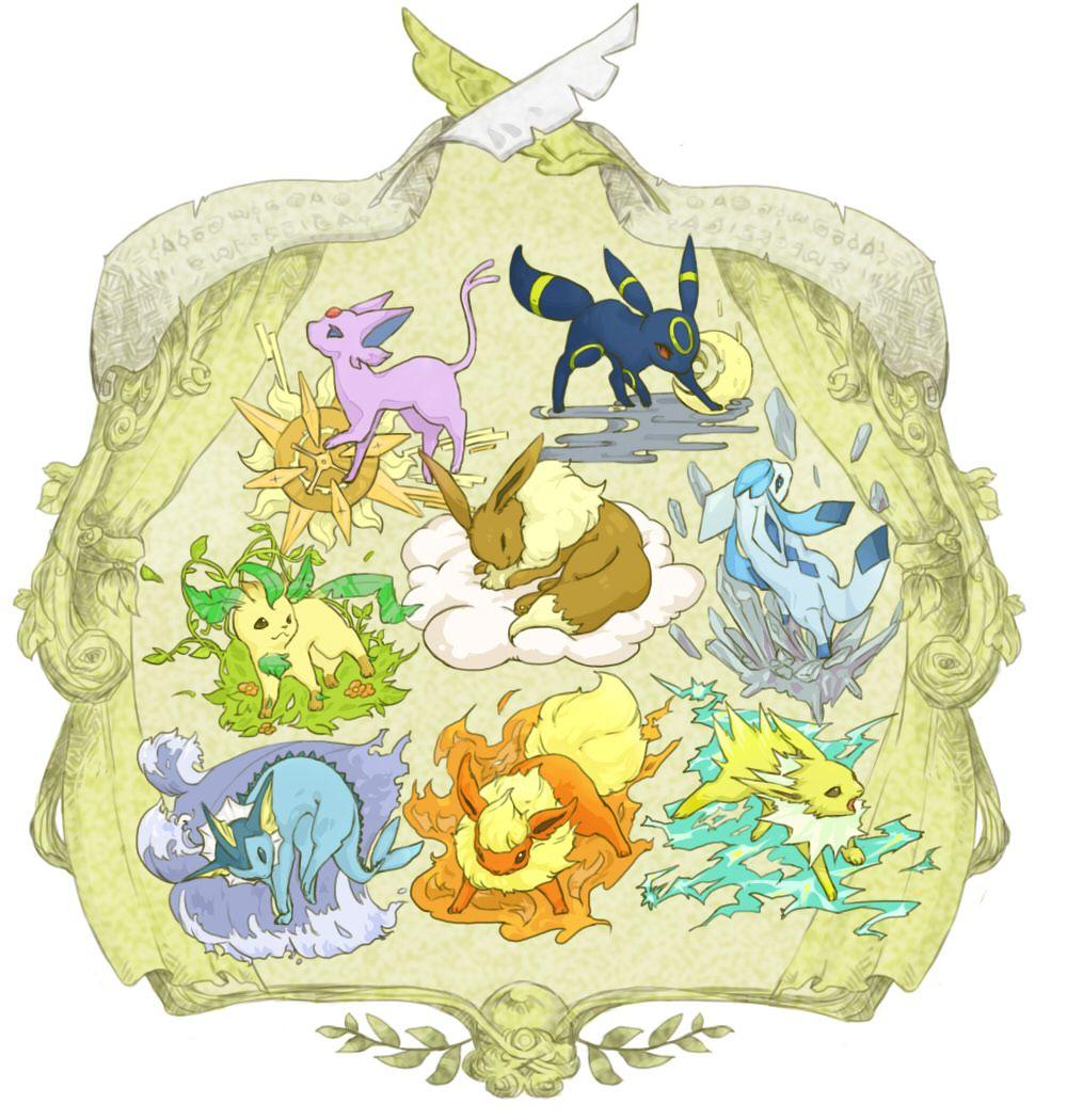 espeon, umbreon, leafeon, eevee, glaceon, vaporeon, flareon, jolteon, pokemon