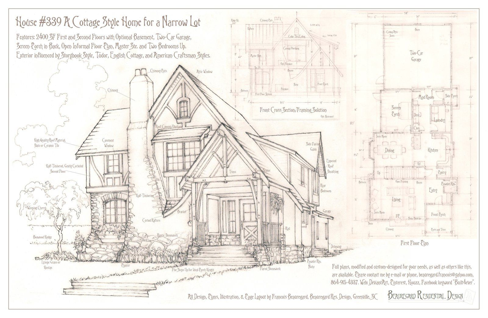 House 339 Portrait And Plans Vintage House Plans How To Plan Storybook Homes