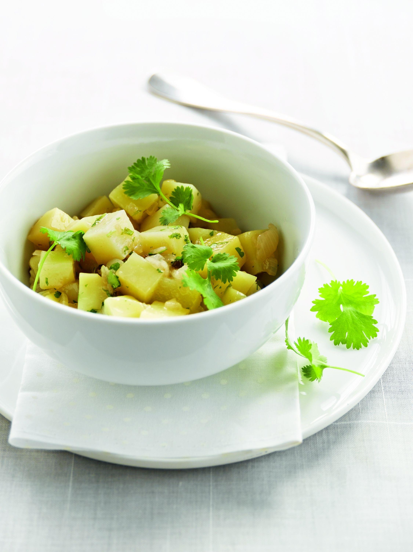 Een overheerlijke barigoule van aardappelen met citroen en koriander, die maak je met dit recept. Smakelijk!