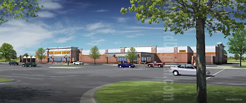 Architectural illustration the home depot south riding