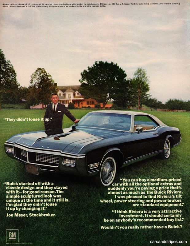 1968 Buick Riviera - They didn\'t louse it up - Original Ad   Old Car ...
