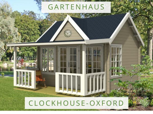 Gartenhaus ClockhouseOxford mit überdachter Terrasse und