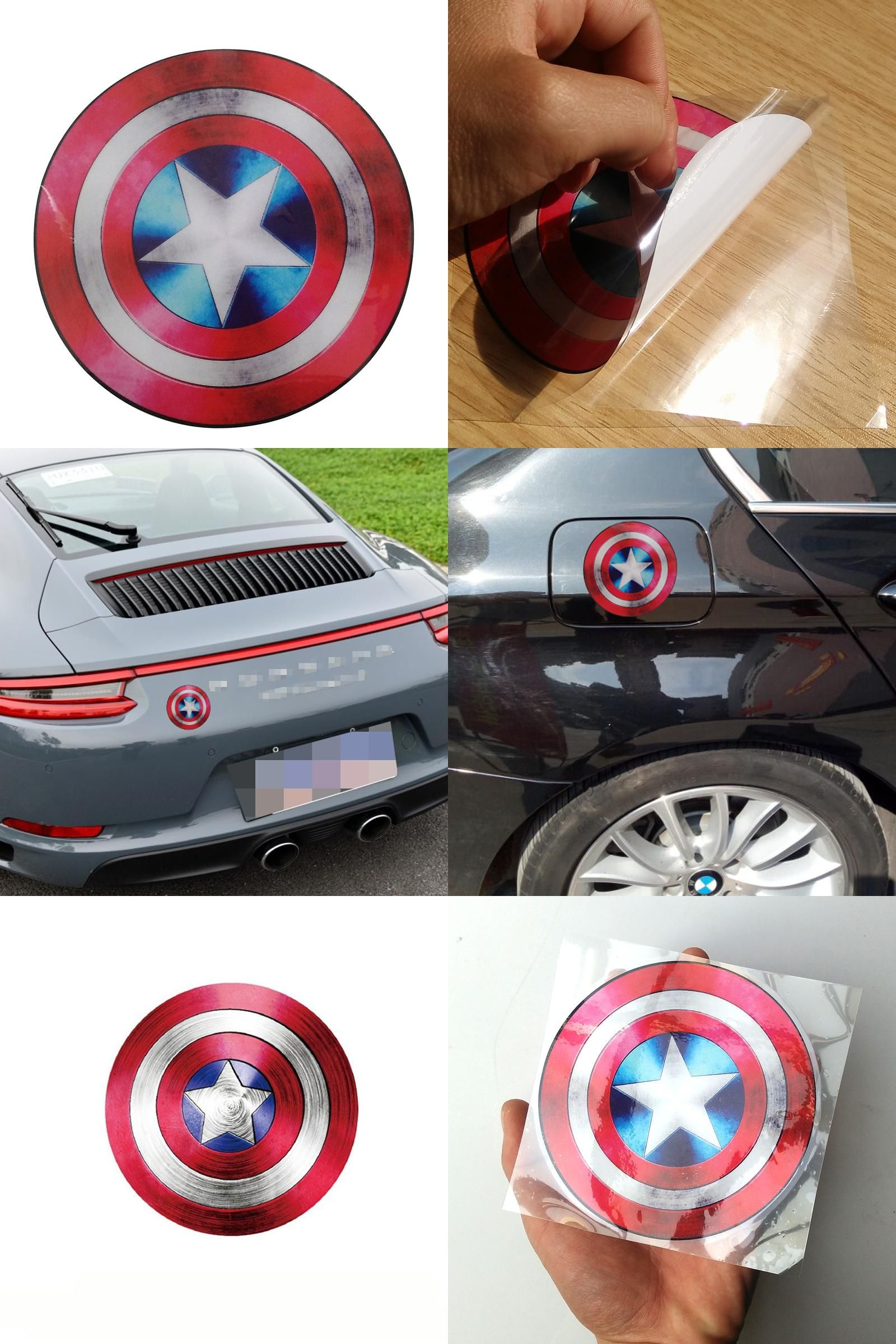 Visit To Buy Car Styling Captain America Shield Car Sticker For Motorcycle Toyota Kia Reflective Tap Sticker For Opel Vw F Captain America Ford Focus America [ 2400 x 1600 Pixel ]