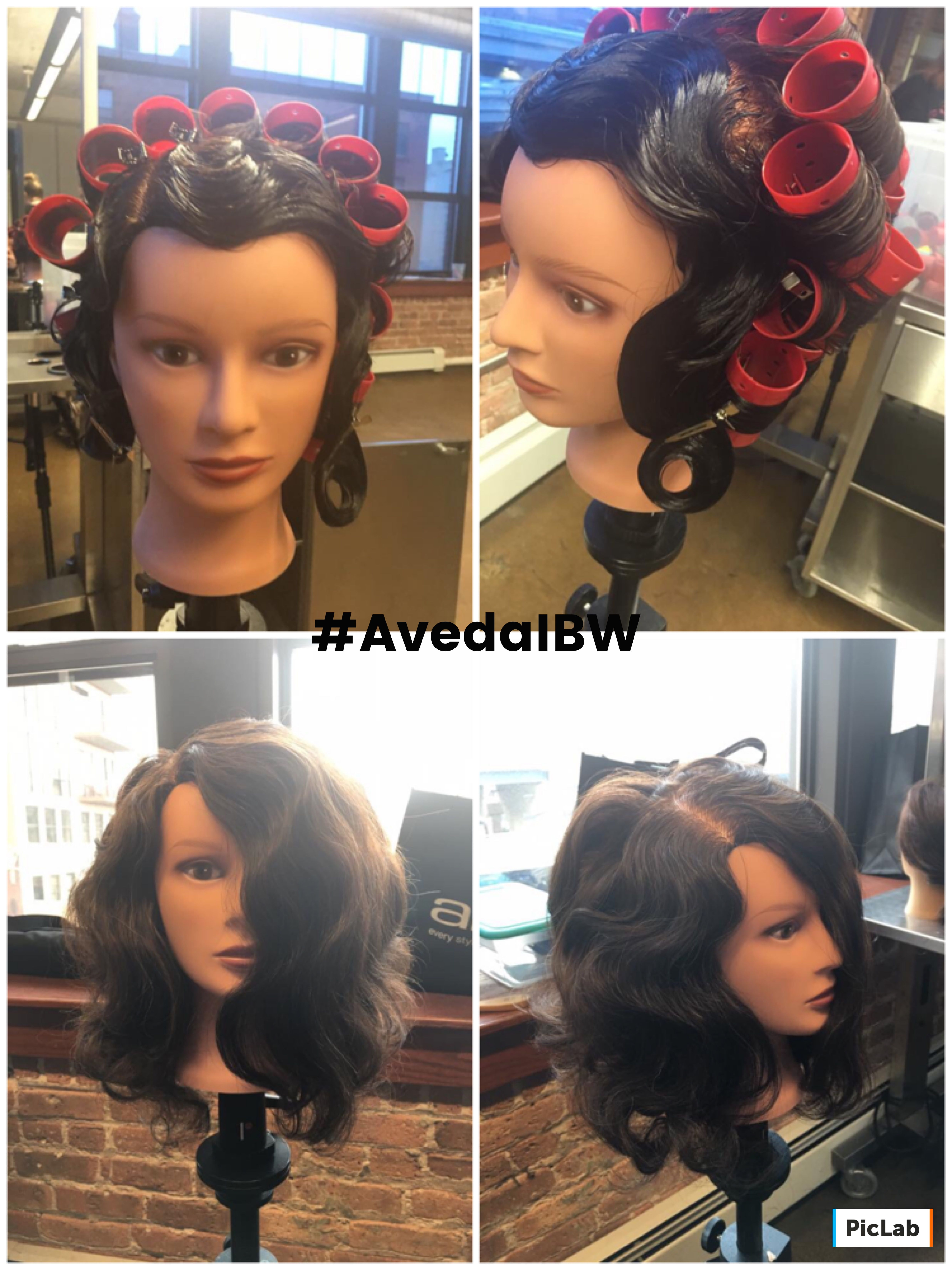 I Did This Beautiful Finger Wave And Wet Set Combination The Other