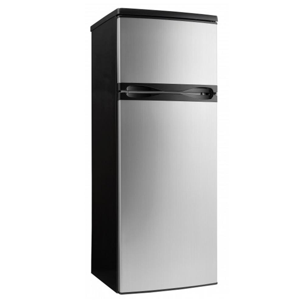 Danby 7.3 cu. ft. Apartment Size Top Freezer Refrigerator in Black ...