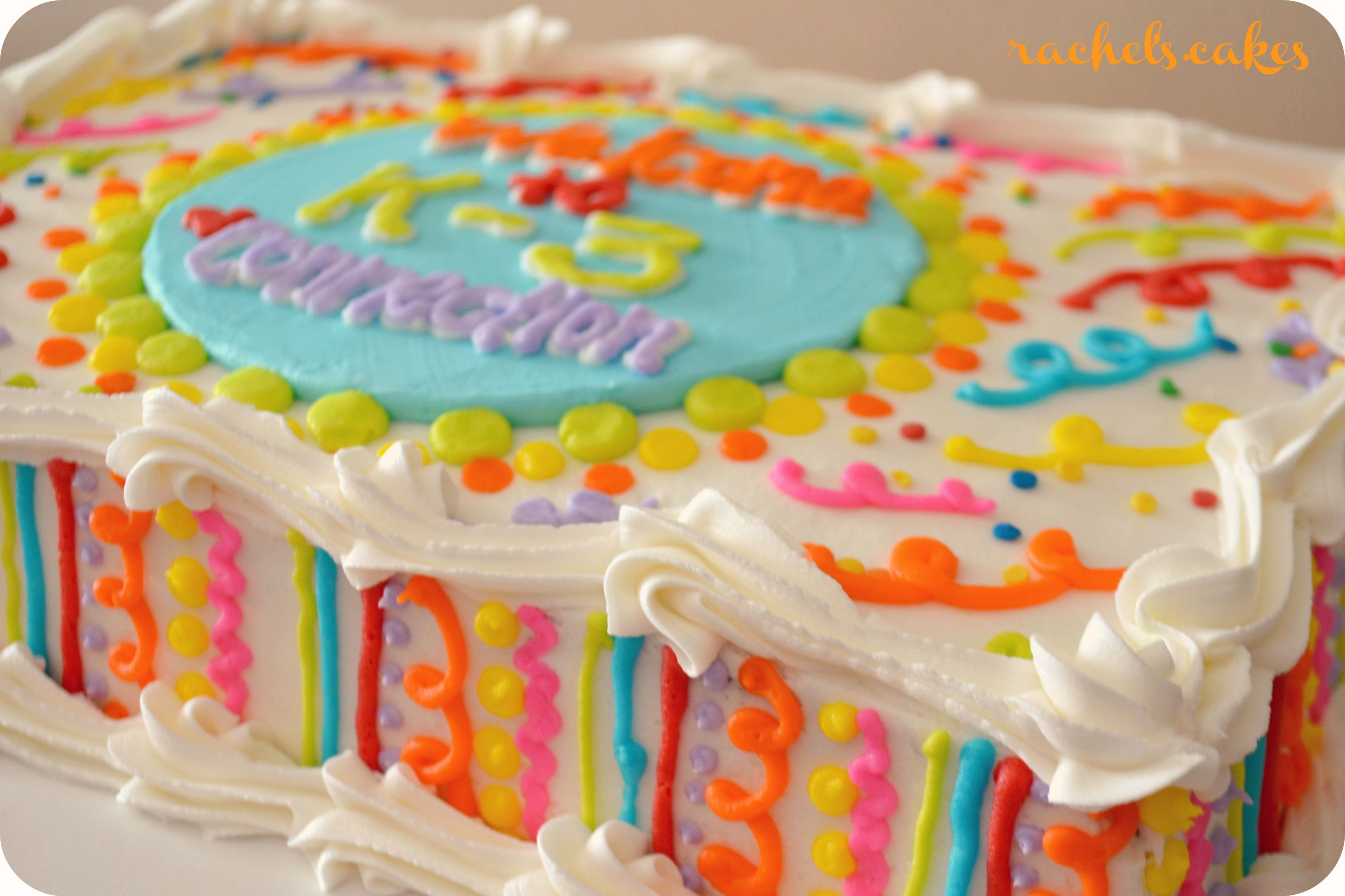 Colorful Buttercream Sheet Cake