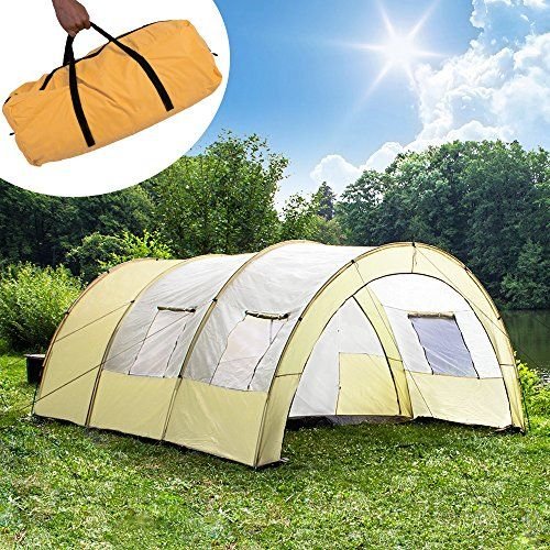 TecTake C&ing tent 3000 mm hydrostatic head tunnel with foyer 4 - 6 man persons waterproof & TecTake Camping tent 3000 mm hydrostatic head tunnel with foyer 4 ...