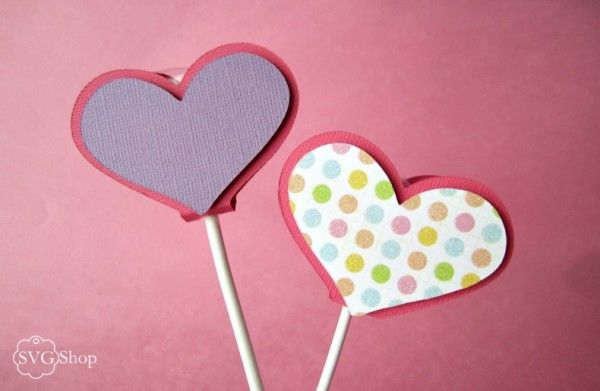 Heart Lollipop Sucker Cover - Free SVG