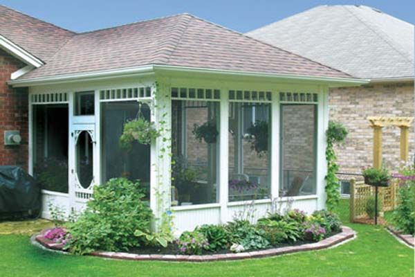 screen porch on a budget | porch plans solid wall screened in back porch ideas Screened in Porch ...