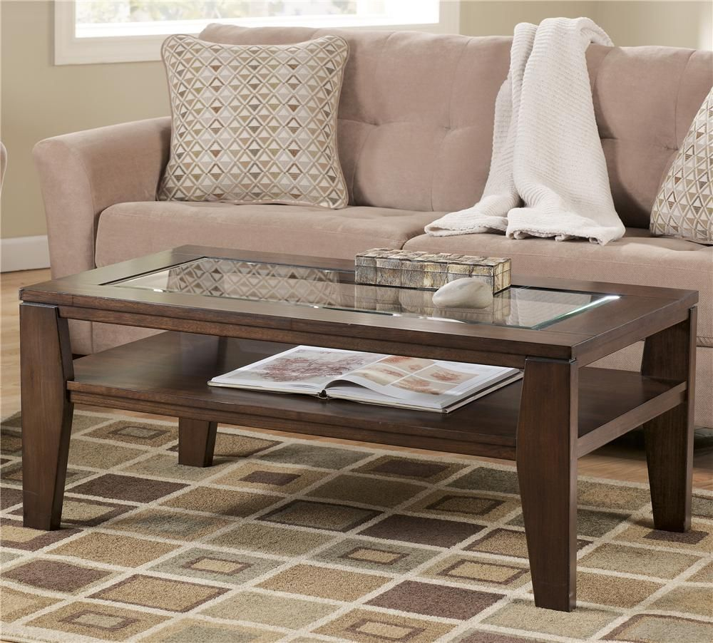 Deagan Rectangular Cocktail Table By Signature Design By Ashley Coffee Table Living Room Table Sets Coffee Table Wood [ 902 x 1000 Pixel ]