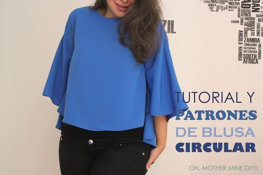 Tutorial y patrones: Blusa circular para mujer | Pinterest ...