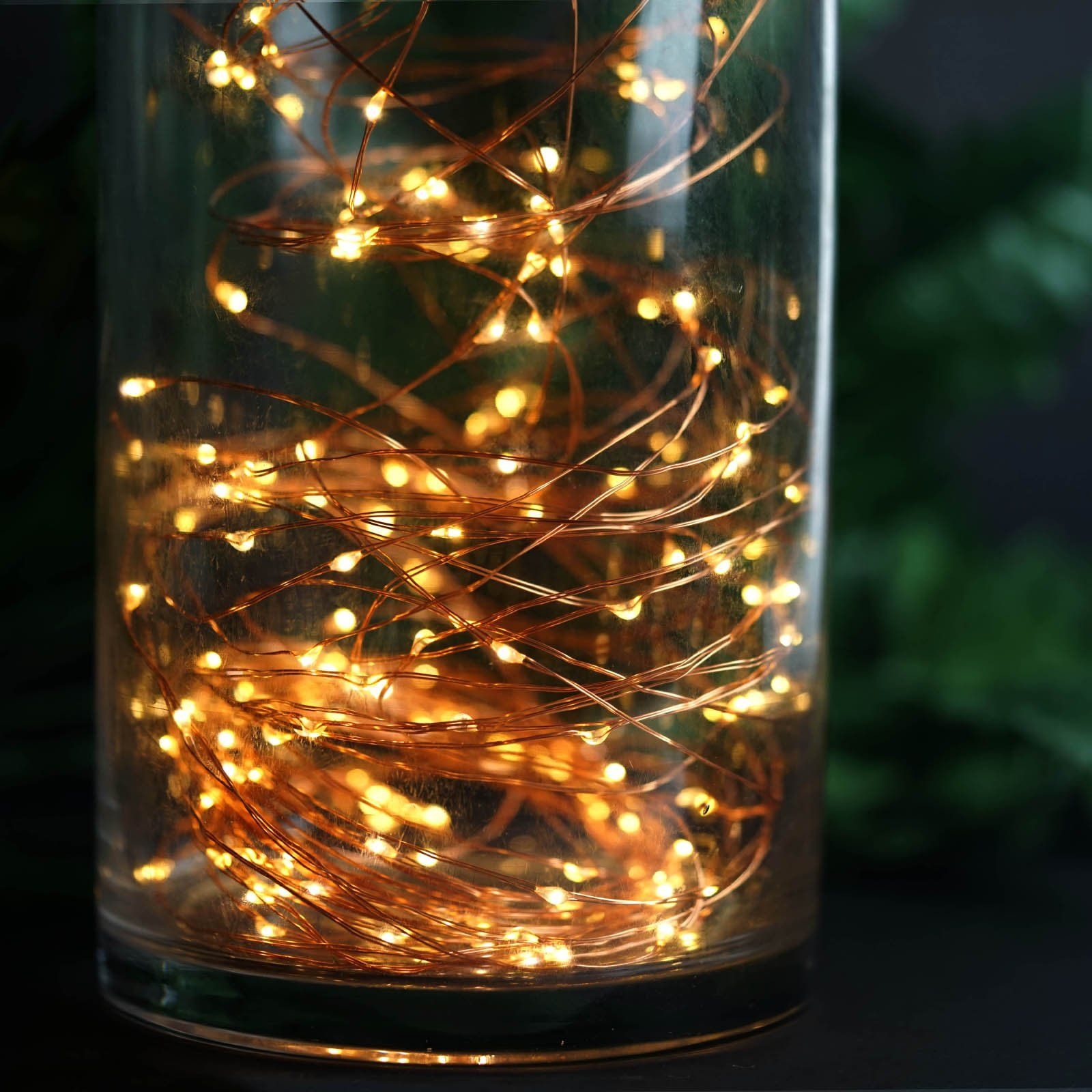 8ft 200 Led Waterfall Lights 10 Strands Copper Spray Strands Waterproof Battery Operated Fairy Lights Warm White Waterfall Lights Fairy Lights Copper Spray