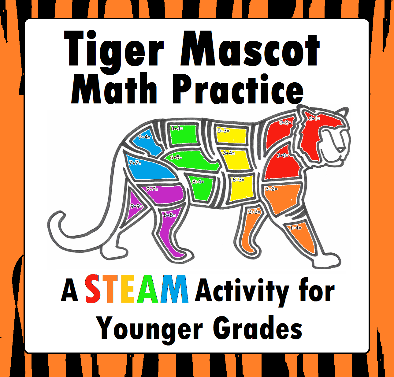 Tiger Addition Worksheet Math Stem Steam Activity For
