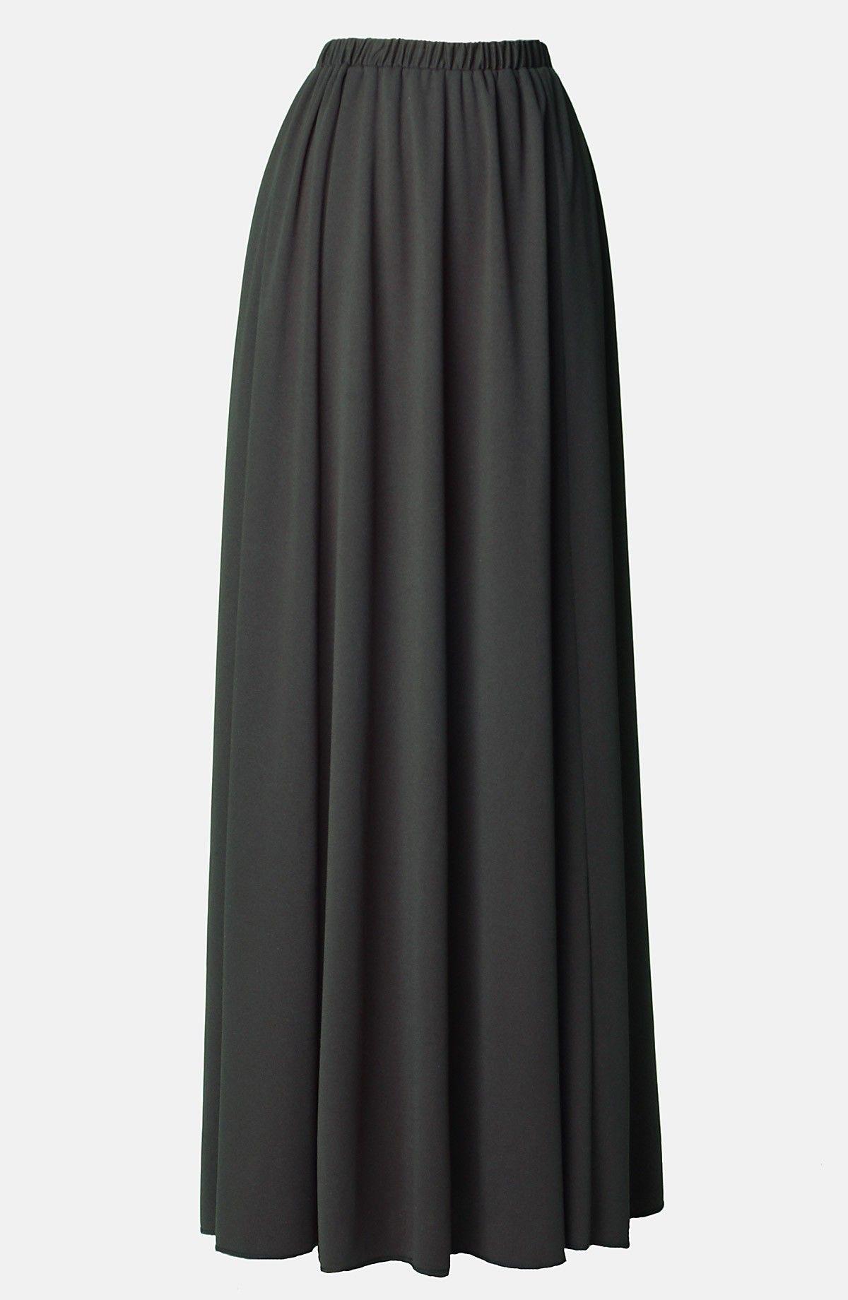 htm donna york floors v shopbop karan gored vp floor skirts length new skirt