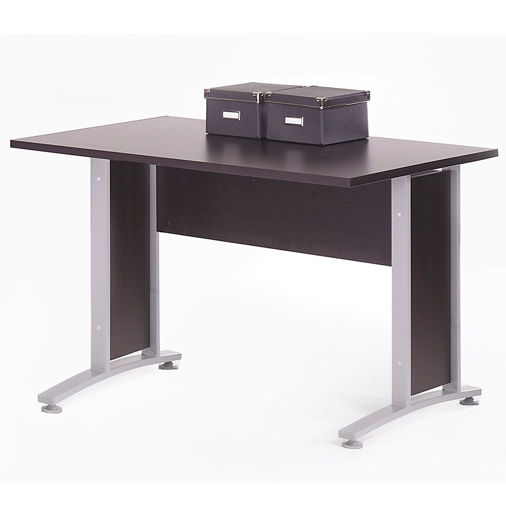 Coffee Table Legs At Home Depot: Tvilum-Scanbirk Prima 5-Foot Desk With Metal Legs, 29 1/4