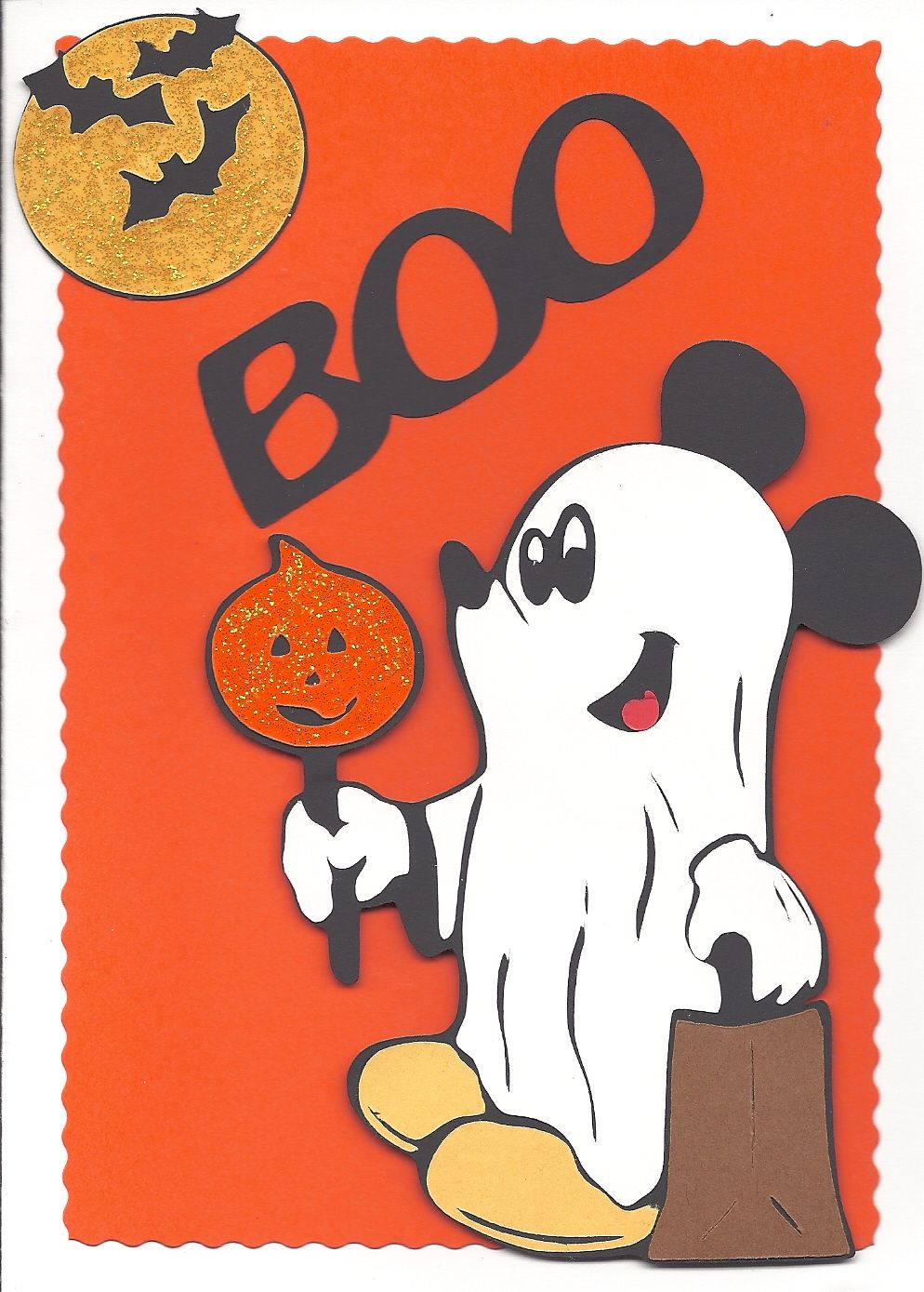 Mickey Mouse ghost card cards and things I have made Pinterest - Minnie Mouse Halloween Decorations